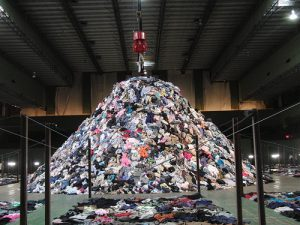 mountain of clothes